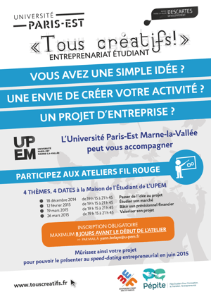 Universit paris est marne la vall e ev nement les for Idee creation entreprise service